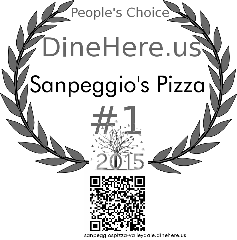 Sanpeggio's Pizza DineHere.us 2015 Award Winner